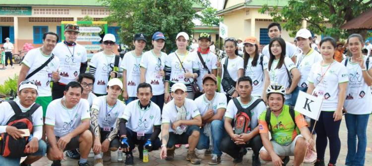 Angkor Hospital for Children Cycling event on 14-Aug-2016